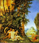 Landscape with Satyr Family.