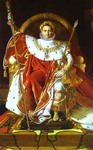 Portrait of Napoléon on the Imperial Throne.