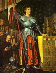 Joan of Arc on Corronation of Charles VII in the Cathedral of Reims