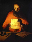 St. Jerome Reading. Workshop of La Tour.