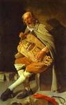 Hurdy-Gurdy Player, also called Hurdy-Gurdy Player with Hat.