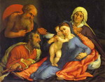 Madonna and Child with St. Jerome, St. Joseph and St. Anne.