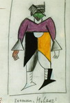 New Man. Sketch of a costume for the opera