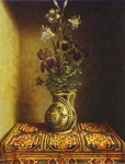 Still Life with a Jug with Flowers. The reverse side of the Portrait of a Praying Man