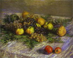 Still Life with Pears and Grapes.