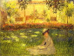 Woman Sitting in a Garden