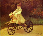 Jean Monet on a Mechanical Horse.