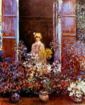 Camille Monet at the Window.
