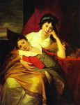 Portrait of Catherine Muravyova (1771-1848) with Her Son Nikita Muravyov (1796-1866).
