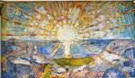 The Sun. From the Oslo University Aula decoration..
