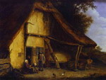 A Peasant Family Outside a Cottage.