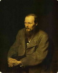 Portrait of the Author Feodor Dostoyevsky.