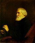 Portrait of the Author Ivan Turgenev.