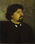 Portrait of the Artist Vasily Surikov.