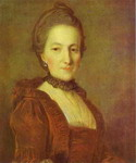Portrait of an Unknown Woman in a Red Dress.
