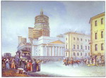 Departure of an Omnibus from St. Isaac's Square in St. Petersburg. 1841.