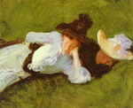 Two Girls on a Lawn.