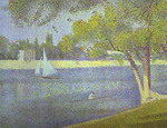The Siene at La Grande Jatte, Spring.