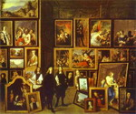 Archduke Leopold-Wilhelm in His Art Gallery in Brussels.