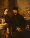 Portrait of D. P. Voyeikov with His Daughter and the Governess Miss Sorock.