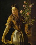 Girl with a Pot of Roses.