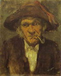 Head of Old Man Smoking.