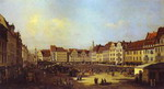 The Old Market Square in Dresden.
