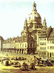 The New Market Square in Dresden, Seen from the Judenhof. Detail.