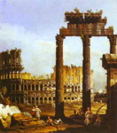 Capriccio with the Colosseum.