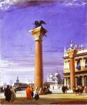 St. Mark's Column in Venice.