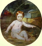 Child in a Swimming Pool (Portrait of Prince A. G. Gagarin in Childhood).
