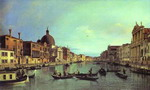 Grand Canal: Looking South-West from the Chiesa degli Scalzi to the Fondamenta della Croce, with San