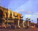 Capriccio: the Horses of San Marco in the Piazzetta.