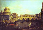 Capriccio: the Grand Canal, with an Imaginary Rialto Bridge and Other Buildings.