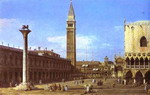 Venice; The Piazzzetta towards the Torre del'Orologio.