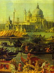 The Reception of the French Ambassador in Venice. Detail.
