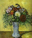 Flowers in a Blue Vase.