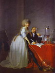 Portrait of Antoine-Laurent and Marie-Anne Lavoisier.
