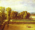View of the Garden of the Luxembourg Palace.