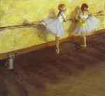 Dancers Practising at the Bar.