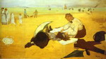 At the Beach.