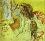 Woman at Her Toilette.