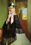 Portrait of Marguerite de Gas, the Artist's Sister.