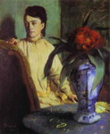 Woman with Porcelain Vase.
