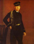 Portrait of Achille de Gas in the Uniform of a Cadet.