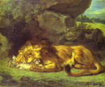 Lion Devouring a Rabbit.