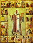 St. Alexius, Metropolitan of Moscow, with Scenes from His Life.