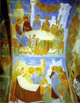 Ceiling mural in the Church of Nativity of the Virgin in the Pherapontov Monastery.