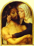 The Virgin Embracing the Dead Christ.