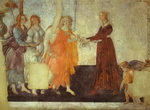 Venus and the Three Graces presenting Gifts to a Young Woman.